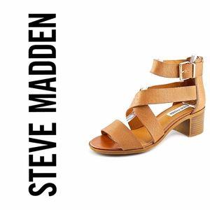 Tan Strappy Raeleen Sandal by Steve Madden Sz 10M